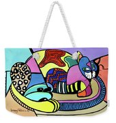 A Cat Named Picasso Weekender Tote Bag by Anthony Falbo