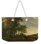 A Landscape With A Carriage And Horsemen At A Pool  Weekender Tote Bag
