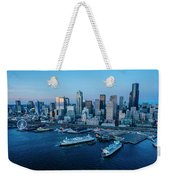 Aerial View Of A City, Seattle, King Weekender Tote Bag