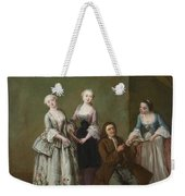 An Interior With Three Women And A Seated Man  Weekender Tote Bag