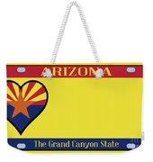 Arizona State License Plate Weekender Tote Bag