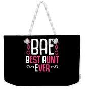 Bae Best Aunt Ever Weekender Tote Bag