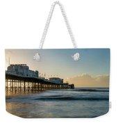 Beautiful Vibrant Sunrise Landscape Image Of Worthing Pier In We Weekender Tote Bag