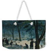 Central Park, Winter Weekender Tote Bag