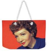 Claudette Colbert, Vintage Movie Star Weekender Tote Bag