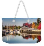 Colorful Autumn Foliage At Stanley Park Weekender Tote Bag by Andy Konieczny