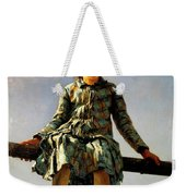 Dragonfly, Painter's Daughter Portrait Weekender Tote Bag