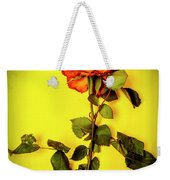 Dying Flower Against A Yellow Background Weekender Tote Bag