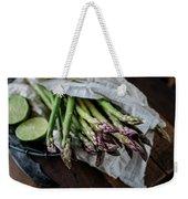 Fresh Green Asparagus Weekender Tote Bag