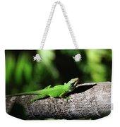 Green Lizard Weekender Tote Bag