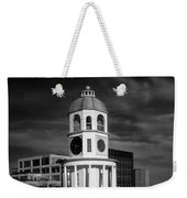 Halifax Town Clock 2017 Black  And White Weekender Tote Bag