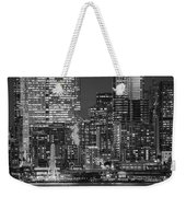 Illuminated City At Night, Seattle Weekender Tote Bag
