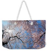 Low Angle View Of Cherry Blossom Trees Weekender Tote Bag