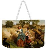 Mrs  Schuyler Burning Her Wheat Fields On The Approach Of The British  Weekender Tote Bag