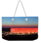 Soccer Stadium Lit Up At Dusk, Allianz Weekender Tote Bag