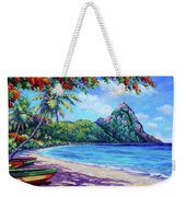 Soufriere Bay St Lucia Weekender Tote Bag