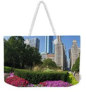 Summer Flowers In Bloom, Millennium Park, Chicago City Center, I Weekender Tote Bag