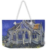 The Church In Auvers Sur Oise  View From The Chevet  Weekender Tote Bag