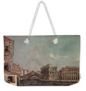 The Grand Canal Above The Rialto  Weekender Tote Bag