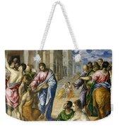 The Miracle Of Christ Healing The Blind  Weekender Tote Bag