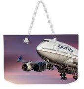 United Airlines Boeing 747-422 Weekender Tote Bag