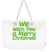 We Wish You A Merry Christmas Secret Santa Love Christmas Holiday Weekender Tote Bag