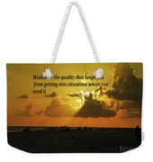 Wisdom Weekender Tote Bag