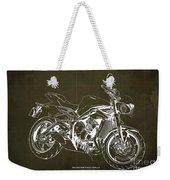 2018 Triumph Street Triple R Blueprint, Vintage Brown Background,gift For Him Weekender Tote Bag