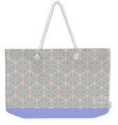 A Repeating Pattern Featuring A Multi-colored Conceptual Flower  Weekender Tote Bag