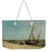 Boats On The Seacoast At Etaples  Weekender Tote Bag