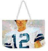 Dallas Cowboys.roger Thomas Staubach. Weekender Tote Bag