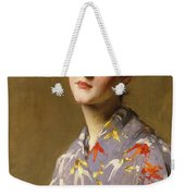 Girl In A Japanese Costume Weekender Tote Bag