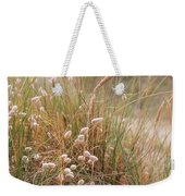 Late Evening Sunset Summer Rays Of Sun Light Up Sand Dunes And G Weekender Tote Bag