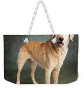 Portrait Of A Labrador Mixed Dog Weekender Tote Bag
