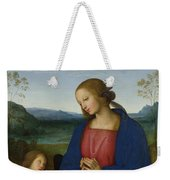 The Virgin And Child With An Angel  Weekender Tote Bag
