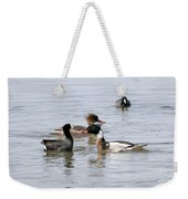 Red-breasted Merganser Weekender Tote Bag
