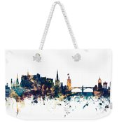 Edinburgh Scotland Skyline Weekender Tote Bag