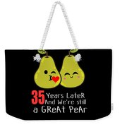 35th Wedding Anniversary Funny Pear Couple Gift Weekender Tote Bag