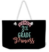 3rd Grade Princess Adorable For Daughter Pink Tiara Princess Weekender Tote Bag