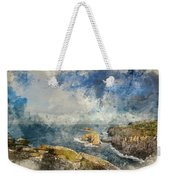 Digital Watercolor Painting Of Stunning Sunrise Landscape Image  Weekender Tote Bag