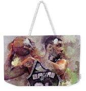Portrait Of Tim Duncan Weekender Tote Bag