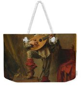 Soldier Playing The Theorbo  Weekender Tote Bag