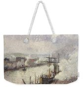 Steamboats In The Port Of Rouen  Weekender Tote Bag