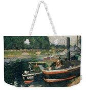 Barges At Pontoise  Weekender Tote Bag