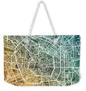 Milan Italy City Map Weekender Tote Bag
