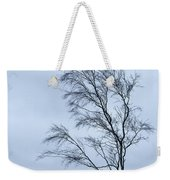 Moody Winter Landscape Image Of Skeletal Trees In Peak District  Weekender Tote Bag