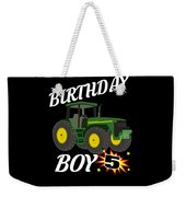 5 Years Old Birthday Design Green Tractor Gifdesign  Weekender Tote Bag