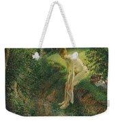 Bather In The Woods  Weekender Tote Bag