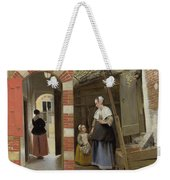 The Courtyard Of A House In Delft  Weekender Tote Bag
