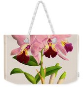 Orchid Vintage Print On Colored Paperboard Weekender Tote Bag
